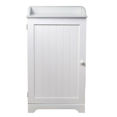 "17.5"" Wide Space Saver Bathroom Kitchen Storage Cabinet - White"