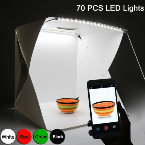70Pcs LED Light Mini Photography Tent Mini Portable Folding Photo Studio Kit Box