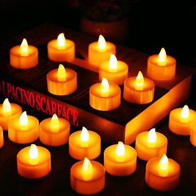 Flameless Tea Lights Flickering LED Candles Battery Operated for Wedding Party - Flickering Flameless Tea Lights
