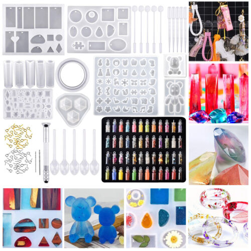 Resin Casting Silicone Molds Epoxy Spoon Mould Kit Jewelry M