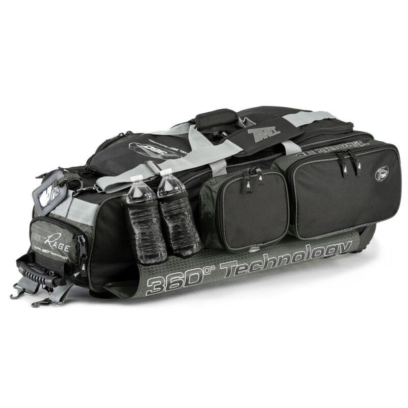 Tanel 360 R.A.G.E. Baseball/Softball Wheel Bag - Black/Charcoal