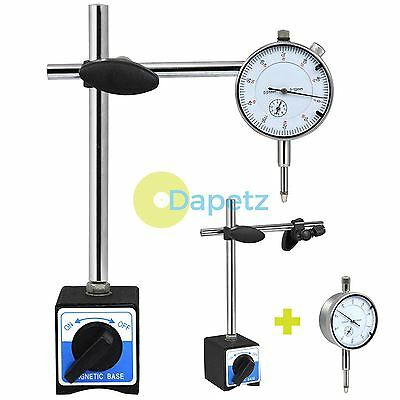 METRIC DTI DIAL INDICATOR TEST GAUGE + STAND WITH MAGNETIC BASE PRECISION CLOCK