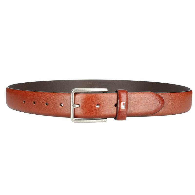 Tommy Hilfiger Men/'s Premium Smooth Feather Edge Leather 35MM Belt 11TL01X049