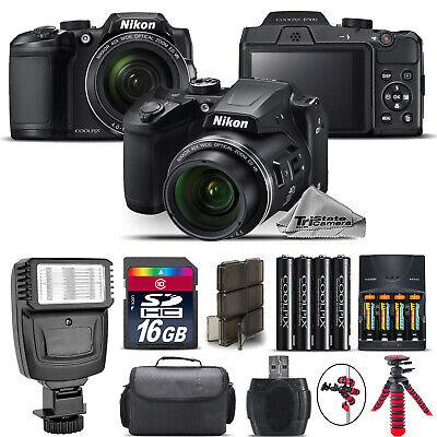 Nikon COOLPIX B500 Camera 40x Optical Zoom + Flash + Case - 16GB Kit Bundle