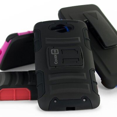 Rugged Belt Clip Holster Combo Hybrid Phone Cover Case for Motorola Droid Turbo