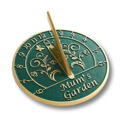 The Metal Foundry Mum's Garden Sundial Gift Handmade In England In Solid Brass