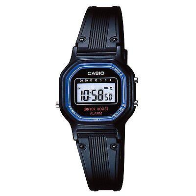 Casio LA11WB-1, Women's Digital Watch, Black Resin Band, Alarm