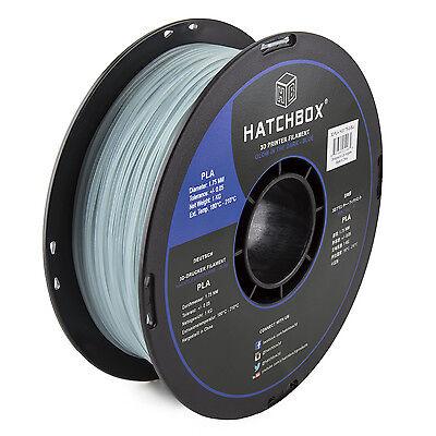 HATCHBOX 1KG 1.75mm 3D Printer PLA Filament in Glow in the Dark Blue