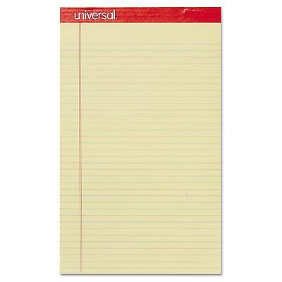 48-pk Universal Perforated Writing Pad Legal Margin Rule 50 Sheet Canary Yellow