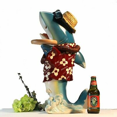 Shark Butler Waiter Statue Tray Old Gold Tie Kitchen For Restaurant Bar 2 -