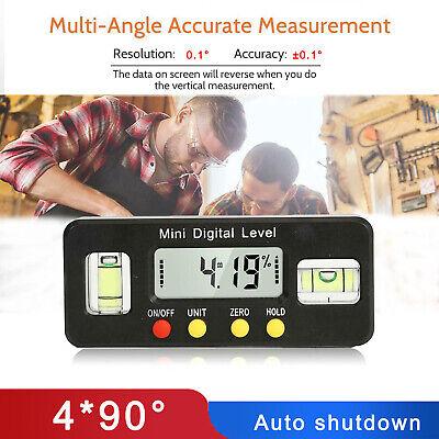 490 Digital Inclinometer Level Box Protractor Angle Finder Bevel Gauge Magnet
