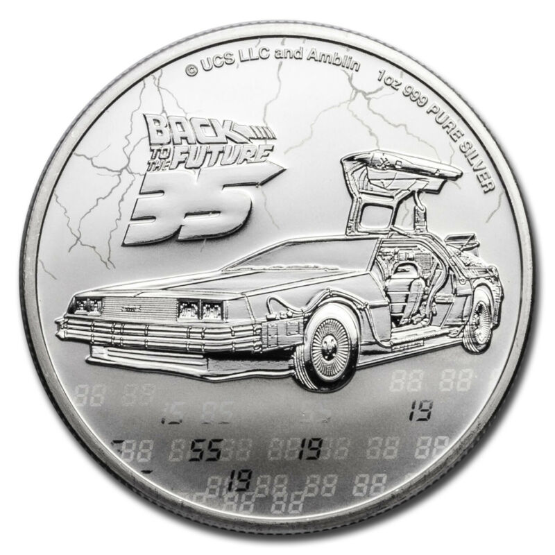 2020 Niue 1 oz Silver $2 Back to the Future 35th Anniversary BU - SKU#212125