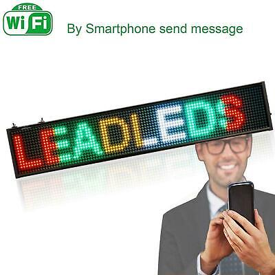 Wifi Led Sign Programmable Rgyw Scrolling Display Message Board For Advertising