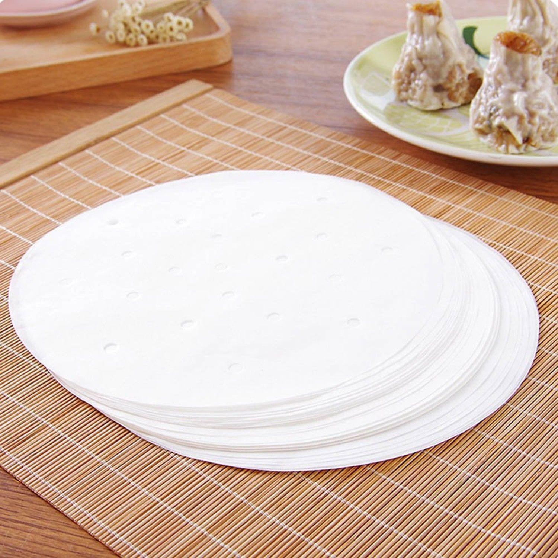 200 pcs bamboo perforat parchment air fryer