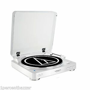 Audio Technica AT-LP60WH-BT Automatic Bluetooth Wireless Belt-Drive Turntable