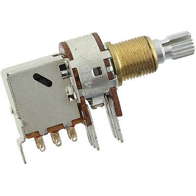 Bourns Mini Push-pull Knurled Shaft Dual Potentiometer 500k Logaudio