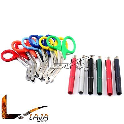 Assorted Rainbow 6 Pcs Pink Emt First Responder 7.5 Shears Rainbow Penlights