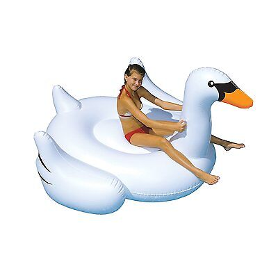 Swimline 90621 Giant Inflatable Ride-On 75 inch Swan Float For Swimming Pools
