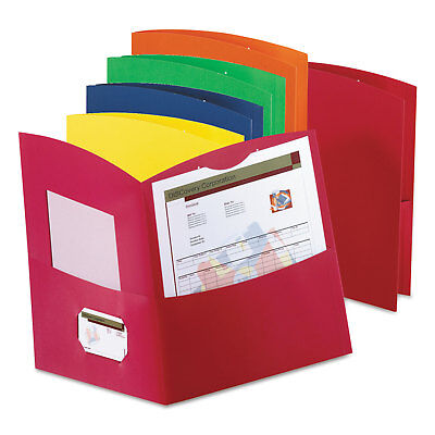 Oxford Contour Two-pocket Reycled Paper Folder 100-sheet Capacity Assorted