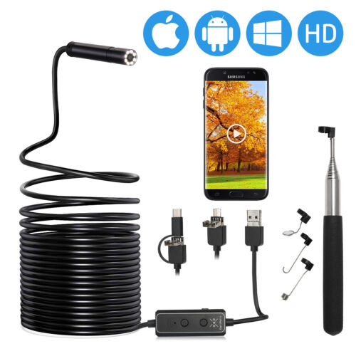 XpertMatic F160 8LED Inspection Endoscope WiFi USB HD Borescope for Cell Phone