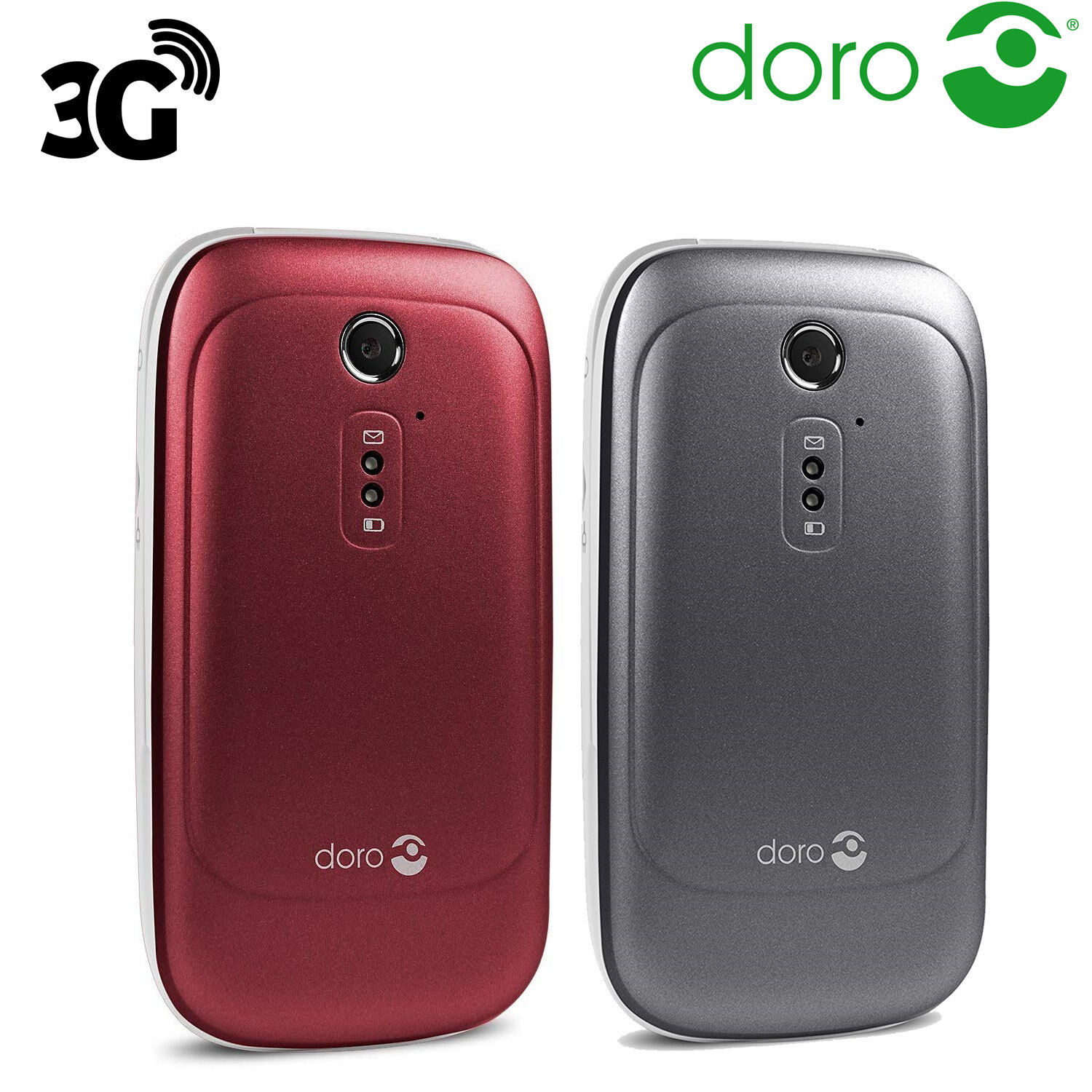 Android Phone - Doro 6520 Big Buttons Loud & Clear Sound Flip Mobile Phone Easy Use 3G Unlocked