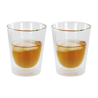 - Luigi Bormioli Duos Double-Wall Old Fashioned Glasses, 10 oz, Clear, 2 Glasses