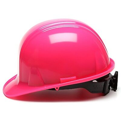 Pyramex Cap Style Hard Hat With 4 Point Ratchet Suspension Hi-vis Pink