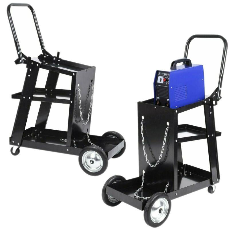 Welder Welding Cart Welding Equipment trolley W/ Storage for Tanks+Safely Chain