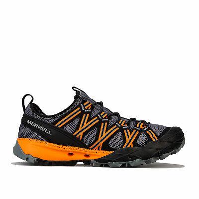 Mens Merrell Choprock Hiking Trainers In Grey Orange- Lace Up Closure- Vibram�