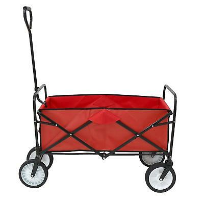 Heavy Duty Foldable Garden Festival Trolley Folding Cart Wagon Truck Wheelbarrow