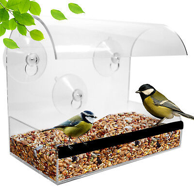 Window Bird Feeder: large, durable, washable! See birds up close! FREE SHIPPING!
