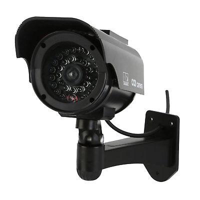 2 x Solar Powered Dummy Security Cameras - Fake CCTV Cameras - UK FREE SHIP