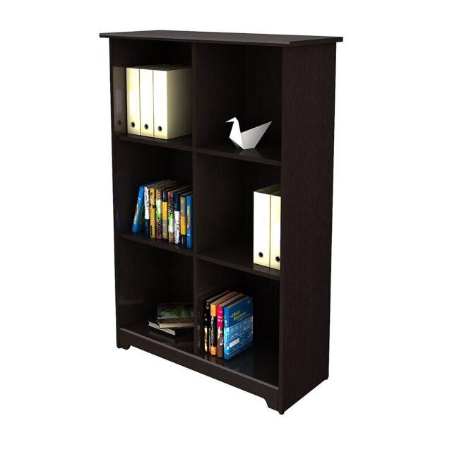 Bush Furniture Wc31865 03 Cabot Collection 6 Cube Bookcase Espresso Oak