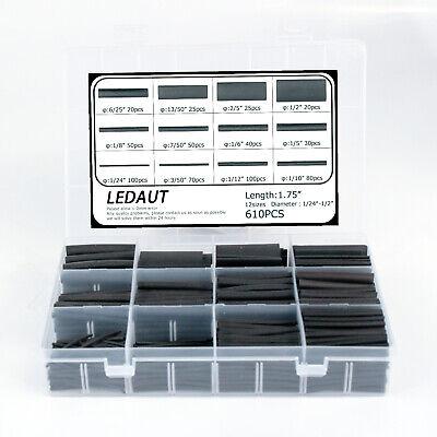 610pcs Heat Shrink Tubing Kit Dual Wall Adhesive Lined Heat Tube