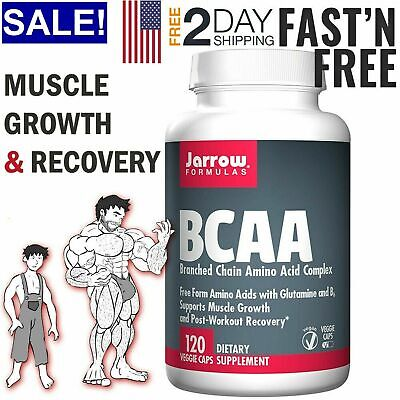 BCAA Amino Acid Caps for Muscle Growth Recovery Workout Body Building Supplement