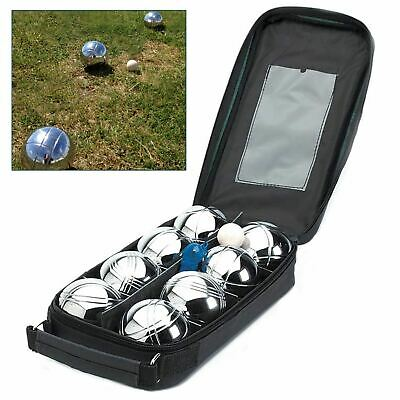 8 Balls Steel French Boules Set Petanque Outdoor Garden Beach Park Game + 1 Jack
