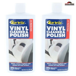 (2) Star Brite Vinyl Cleaner Protector Polish Boat ~ New