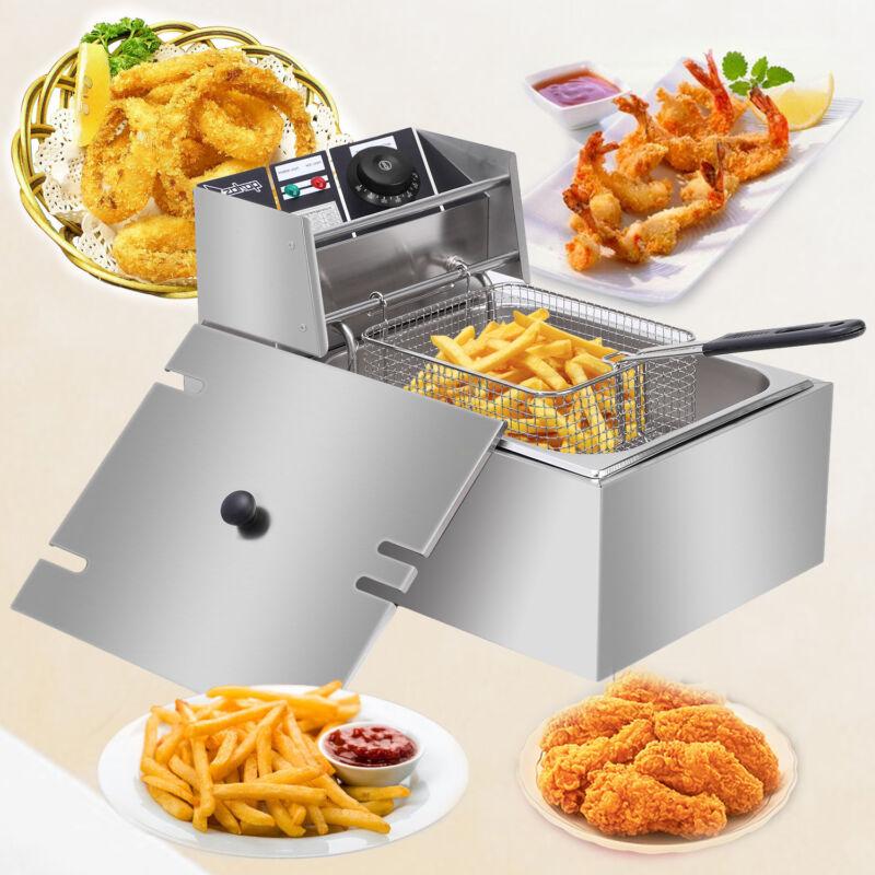 2500W Electric Deep Fryer 6 Liter Commercial Tabletop Restaurant Fry Basket
