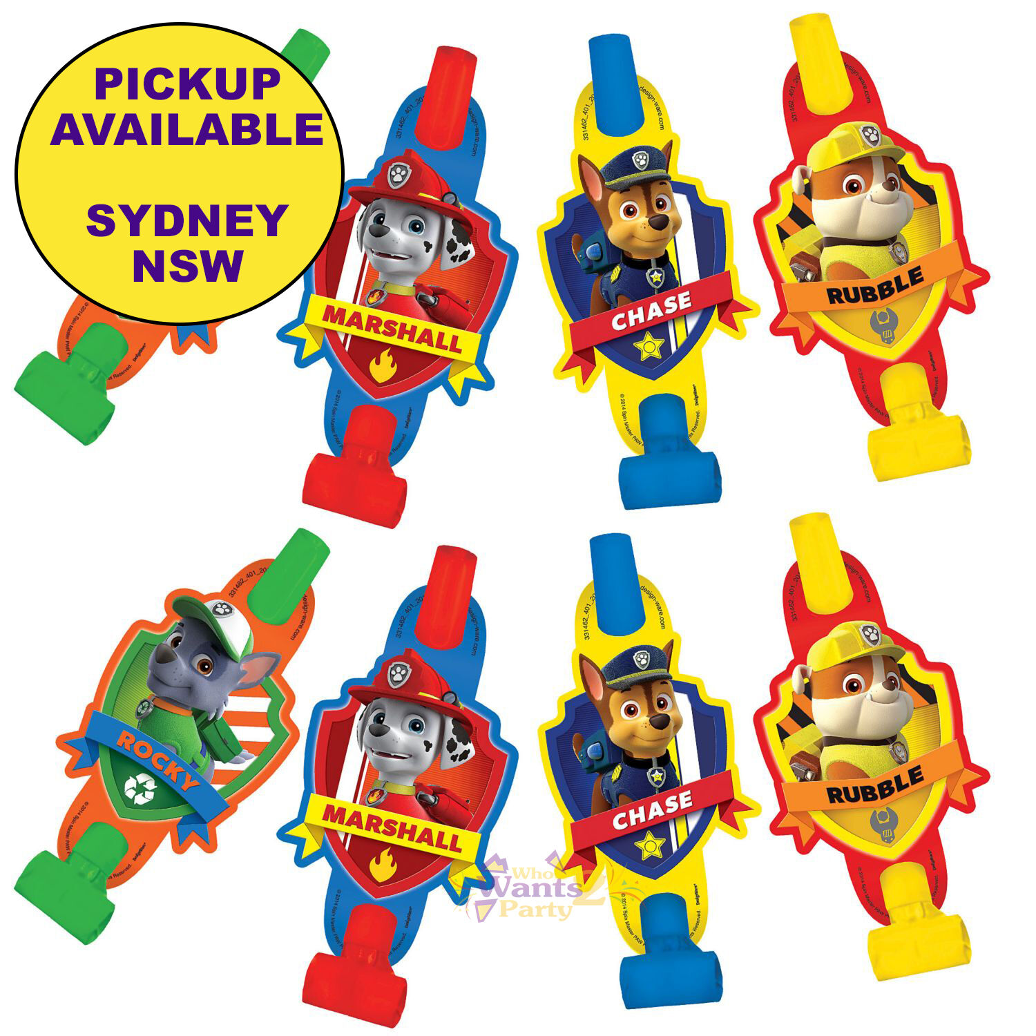 Paw Patrol Party Supplies Blowouts 8 Pack Favour Treat Loot Bag