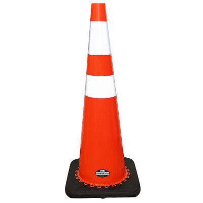 6 Pack 36 Rk Orange Safety Pvc Traffic Cone Black Base W 2 Reflective Tape