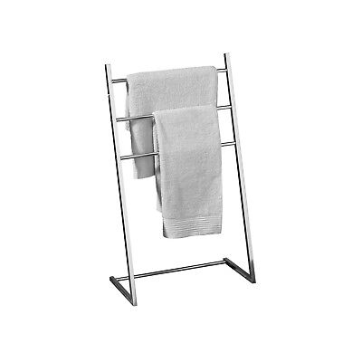 3 Arm Chrome Bathroom Free Standing Towel Stand Rail Holder Storage Organiser