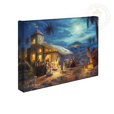 Thomas Kinkade The Nativity 10 x 14 Wrapped Canvas