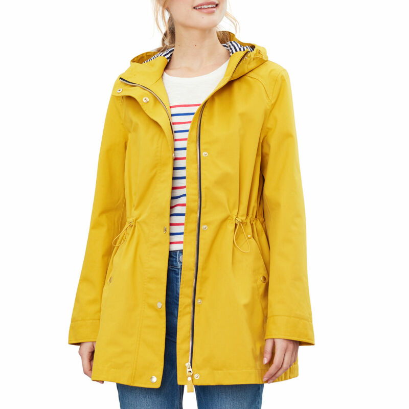 Joules Shoreside Womens Jacket Waterproof - Antique Gold All Sizes