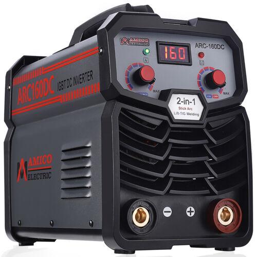 Amico ARC-160DC, 160 Amp Stick Arc Lift-TIG DC Welder, 100-250V & 80% Duty Cycle