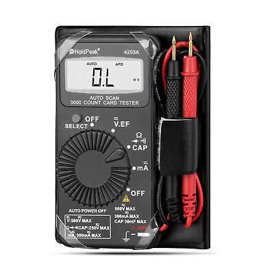 Mini Pocket Digital Multimeter Ohm Dmm Multi Tester Amp Volt Meter Diode Continu