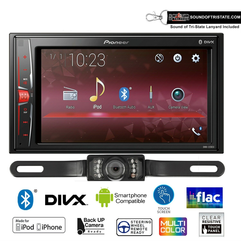 Pioneer DMH-220EX Digital Multimedia Receiver & License Plat