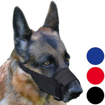 Nylon Dog Muzzle Adjustable German Shepherd Dalmatian Labrador Retriever Secure