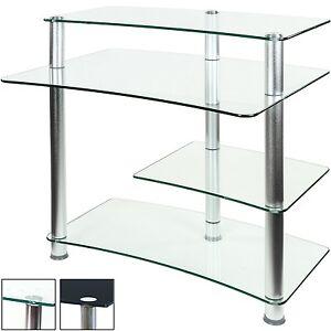 Design verre table d 39 ordinateur bureau pc bureau table - Table ordinateur verre ...