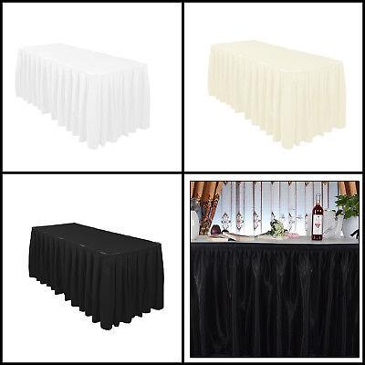 Polyester Tisch Rock Elfenbein Weiß Schwarz für Parties Hochzeiten Celebrations ()