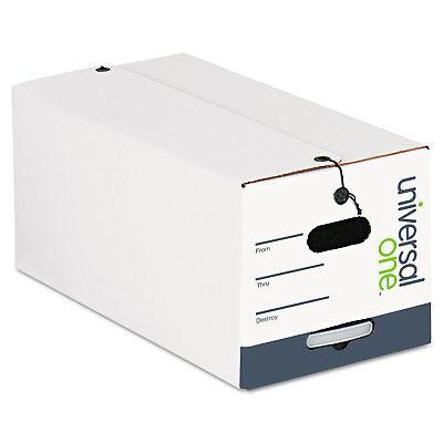 Universal Stringbutton Storage Box Letter Fiberboard White 12carton 75121